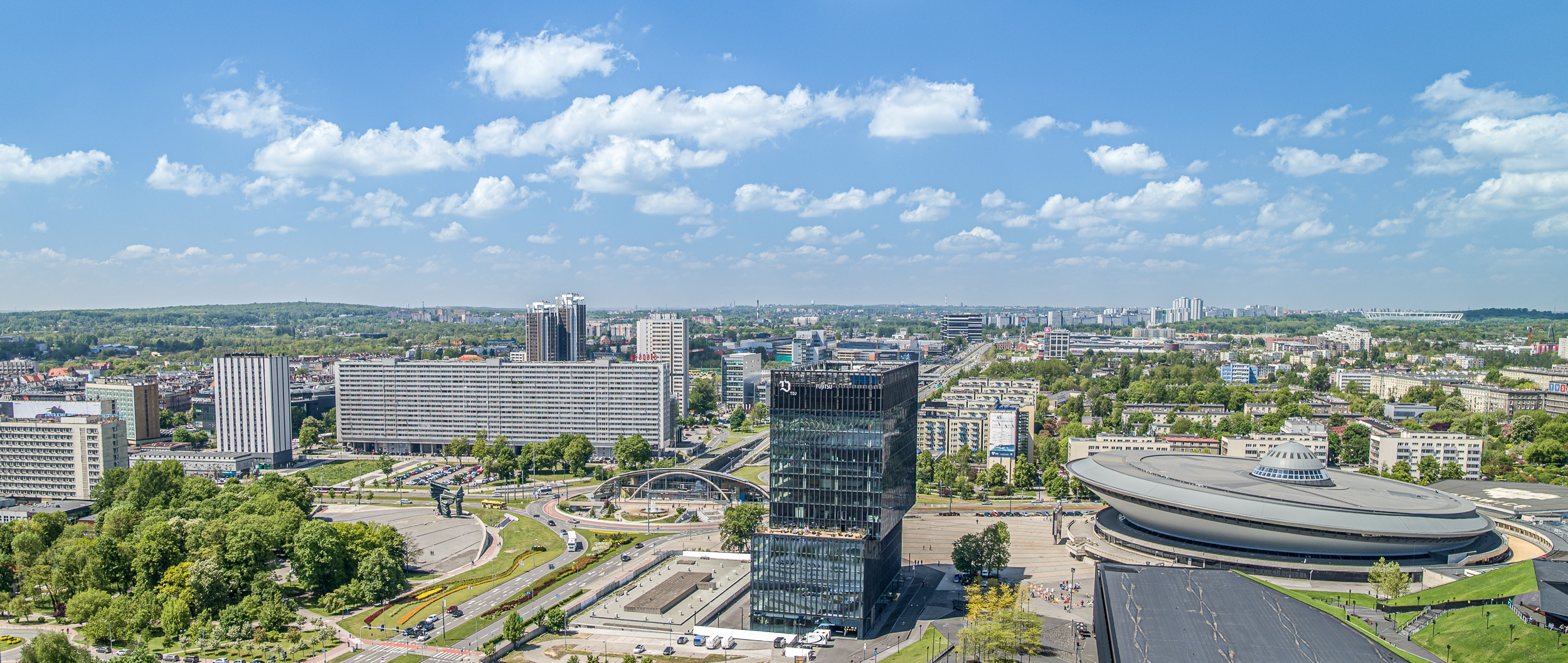 Filmowanie dronem - Katowice